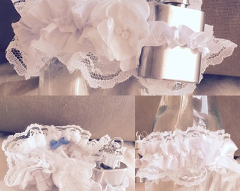 Custom made garter / lingerie  / hip flask garter / bespoke / valentines / bridal / wedding / anniversary / underwear