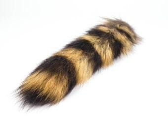 "Small Raccoon Tail 4""-8"""