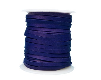 Purple Deerskin Lacing - (1) 50 foot spool, 1/8th inch lace.  Deerskin Lace. (297-18x50PP)