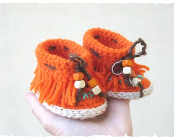 Baby moccasins crochet pattern - Crochet baby loafers pattern - Newborn shoes tutorial - Baby booties crochet PDF pattern