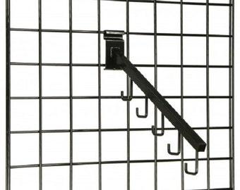 """16"""" Gridwall Waterfall Hook w/ 5 J-Hooks - Black119072"""