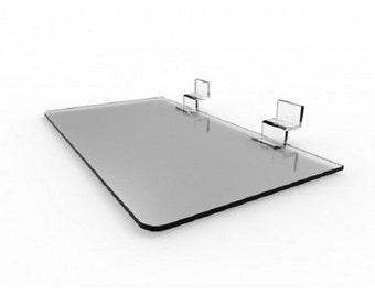 Fixture Displays® FixtureDisplays® Clear Acrylic Plexiglass Slatwall Shelf with Lip 11709-12D