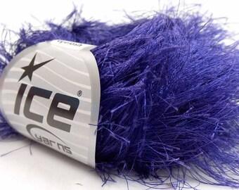 400 gr Purple Long Eyelash Knitting Yarn, Super Bulky Yarn, Novelty Fun Fur Yarn, Art and Craft Yarn, Wholesale Yarn