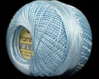 300 gr Light Blue Tatting Thread, Lace Crochet Yarn, Cross Stitch Thraed Size 10