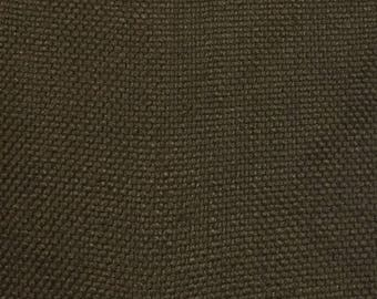 Solid Brown Woven Upholstery Fabric by The Yard