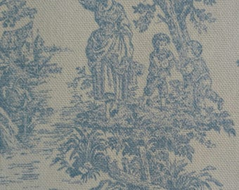 Light Blue Toile - Upholstery Fabric By The Yard