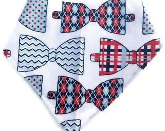 Bow Tie Baby Bib - Bow Tie Baby Gift - Gender Reveal Gift - Baby Bandana Bib - Bowtie Bandana Bib - Drool Bib - Dribble Bib - Bibdana