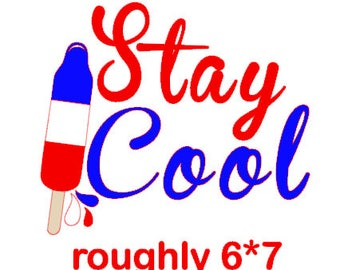 Stay Cool-HTV iron on, and Popsicle necklace set