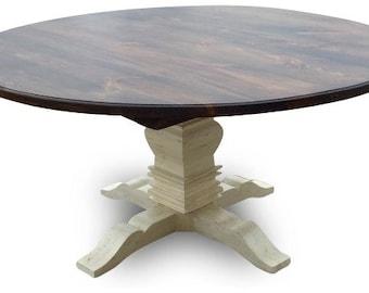 Round Distressed Berkley Farmhouse Table