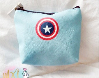 Captain America small coin purse