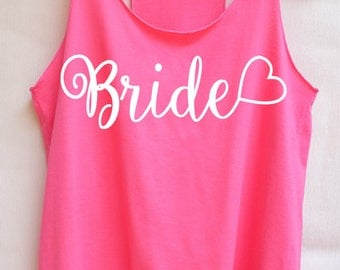 Flock Bride  - Racer back,Bridal shirt,Bridal tank top,Bride shirt,Team bride tank top,Bachelorette Party Tank Top,Wedding Shirt,Bride tribe