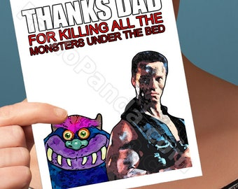 Funny Fathers Day   Arnold Schwarzenegger   Last Action Hero Total Recall Father To Be Card Fathers Day Card Funny Card For Him Funny Dad