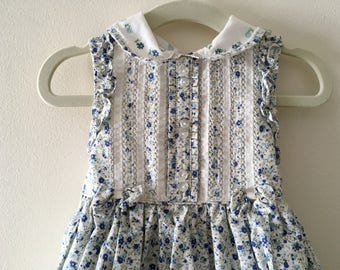 Beautiful Blue Sleeveless Laura Ashley Dress - Size 12m