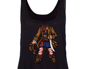 Pirate Captain Women's Boxy Tank Top Tees