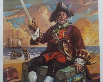 Vintage Pirate Ship Wall Art Etsy