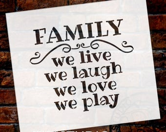 Family - Word Stencil - Select Size - STCL1869 - by StudioR12