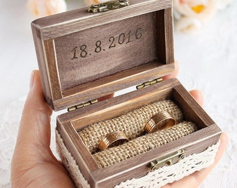 Wooden ring box etsy junglespirit Image collections