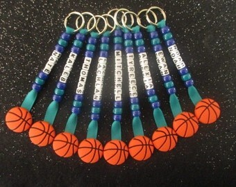 Basketball Keychain Keychain Personalized Team Names Gifts Presents Key Ring Bag Tag Sport School Birthday Colors Party Girl Mother Dad Boy