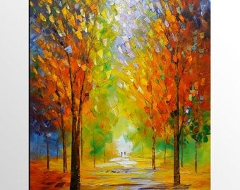 Abstract Art, Abstract Painting, Landscape Painting, Autumn Painting, Original Art, Canvas Art, Canvas Painting, Wall Art, Oil Painting