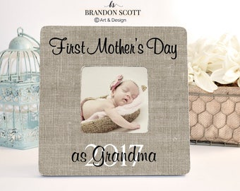 First Mother's Day as Grandma, First Mother's Day as Gigi Mimi Nana, Grandmother Gift, New Grandma Frame, Grandmother Mother's day Gift