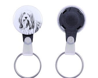 Keyring with a dog -Bearded Collie