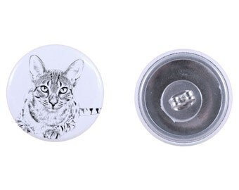 Earrings with a cat -Egyptian Mau