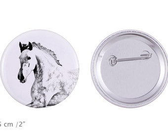 Buttons with a horse -Andalusian