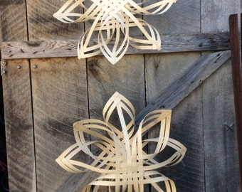 2 giant 24 inch Swedish star snowflakes