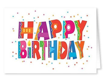 Happy Birthday Cards - 18 Cards and 19 Envelopes - Bulk Birthday Cards - 11185
