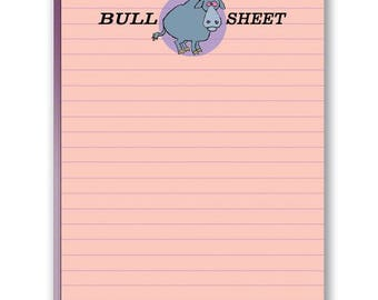 It's Bull Sheet - Funny Note Pad - 2 Cute Note Pads - 35010
