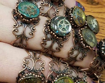 Steampunk inspired rings!!