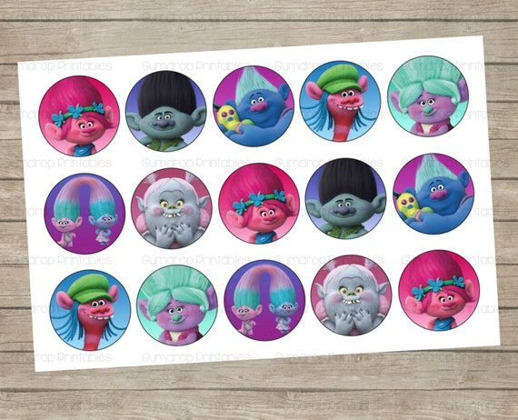 Trolls Craft Ideas Bottle Caps