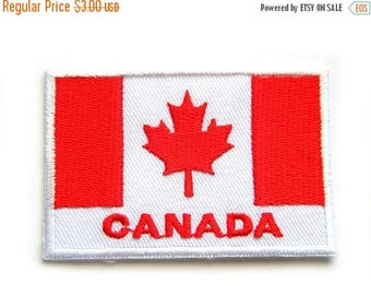 HALF PRICE Canada Flag Embroidered Patch Appliqué