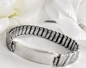 Silver Bracelet, Mid Century Bracelet, Expansion Link Bracelet, Vintage Bracelet, Silver Jewellery, Silver Link Bracelet, Expansion Bracelet