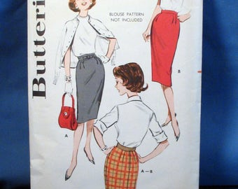 Vintage Butterick Sewing Pattern 9188 - Misses Skirt, Waist 30 inches