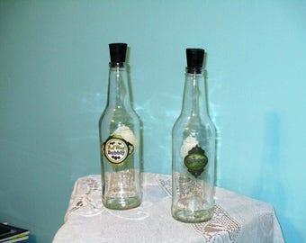 Bat Wing Bubbly Decorative Glass Bottle