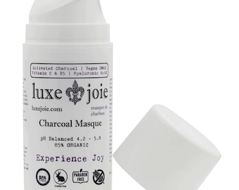 LuxeJoie Amazingly Hydrating Activated Charcoal Facial Masque 85% ORGANIC