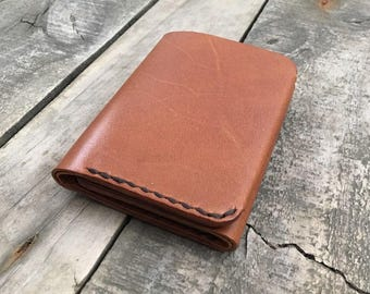 Kangaroo Leather Trifold Wallet - The Redfern Wallet