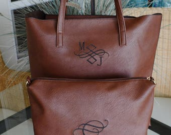 New!! 2 in 1 Shoulder Tote bag-Monogrammed-Priority Mail Shipping!!