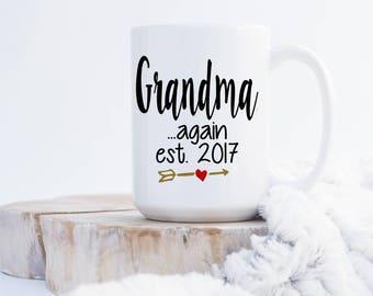 Grandma Again Coffee Mug - Pregnanacy Announcement