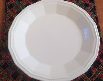 "Four (4) Homer Laughlin COLONIAL WHITE 10"" Dinner Plates"