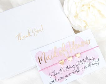 Thank You Maid of Honour Gift Boxed Wish Bracelet - Thank You - Maid of Honour  Gift - Thank You Maid of Honour - Thank You Present