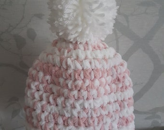 Chunky crochet hats snug and warm in the winter