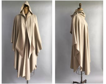 1980's Angora and Wool Minimal Cape