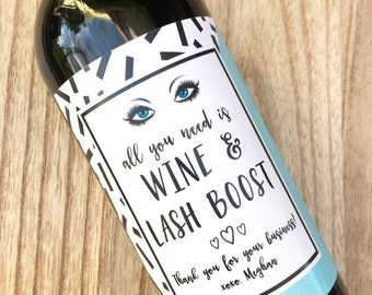 Rodan and Fields Lash Boost Wine Label, Lash Bash, Rodan + Fields Stickers, Product Launch Party, RF Wine, Customer Gift, Event favors