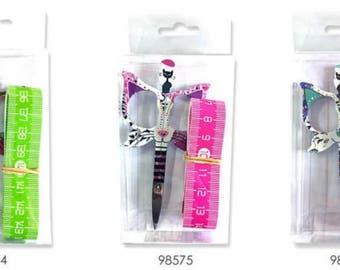 "BOHIN CAT SCISSORS ""Gift Set"" | Ltd Edition Gift Box Includes 3 1/2"" Cat Scissors, 60"" Measuring Tape, Clear Case"