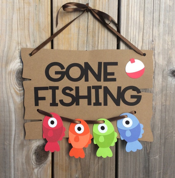 Gone Fishing Signs Decor: Gone Fishing Door Sign Fish Door Sign Gone Fishing Baby
