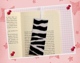 "Plush bookmark ""Zebra"""