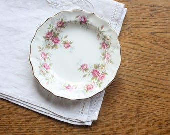 Trinket Dish Duchess 'June Bouquet'  ~ Vintage Bone China Pin Dish Butter Dish Pink Roses ~ Gift for Her
