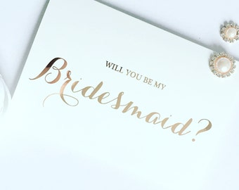 Rose Gold Foil Effect Will You Be.......Cards